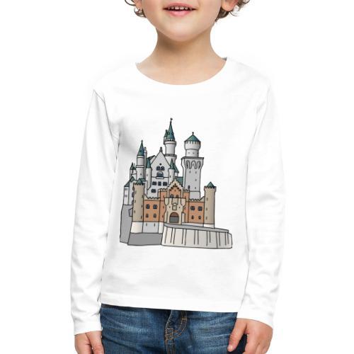 Neuschwanstein Castle, Bavaria - Kids' Premium Long Sleeve T-Shirt