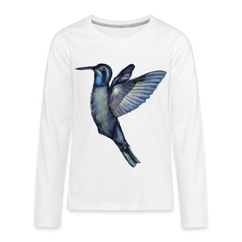 Hummingbird in flight - Kids' Premium Long Sleeve T-Shirt