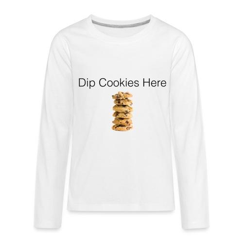 Dip Cookies Here mug - Kids' Premium Long Sleeve T-Shirt