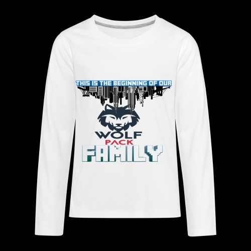 We Are Linked As One Big WolfPack Family - Kids' Premium Long Sleeve T-Shirt