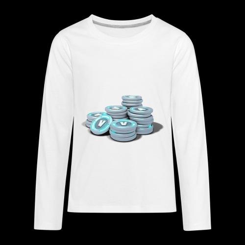 vbucks - Kids' Premium Long Sleeve T-Shirt