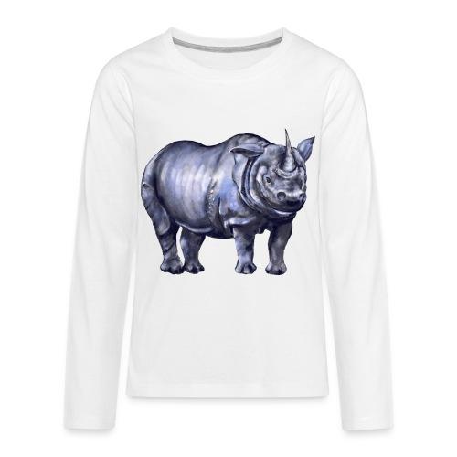 One horned rhino - Kids' Premium Long Sleeve T-Shirt