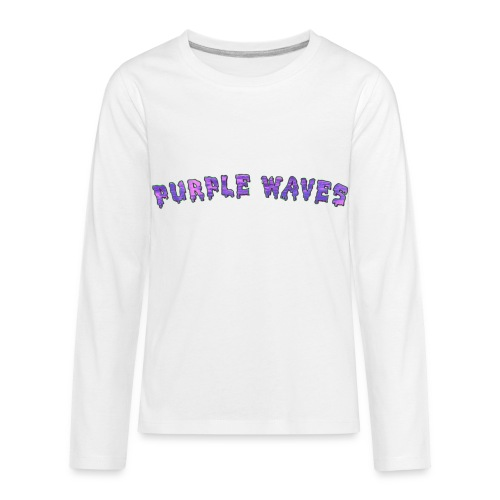 Purple Waves - Kids' Premium Long Sleeve T-Shirt