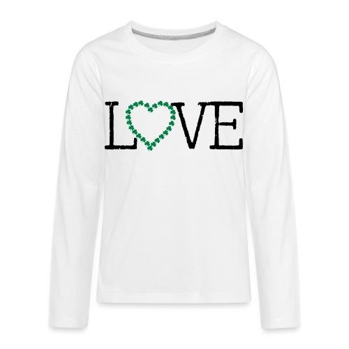 LOVE irish shamrocks - Kids' Premium Long Sleeve T-Shirt