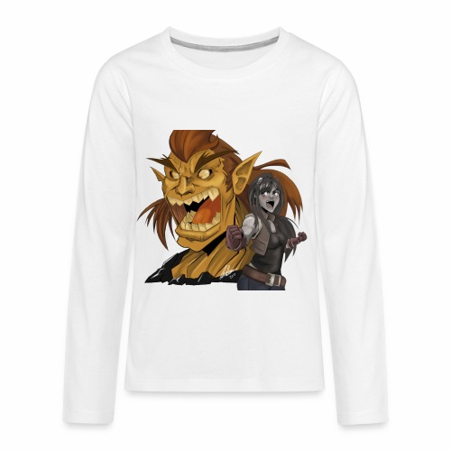Fighter and the Demon - Kids' Premium Long Sleeve T-Shirt