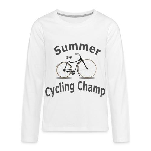 Summer Cycling Champ - Kids' Premium Long Sleeve T-Shirt