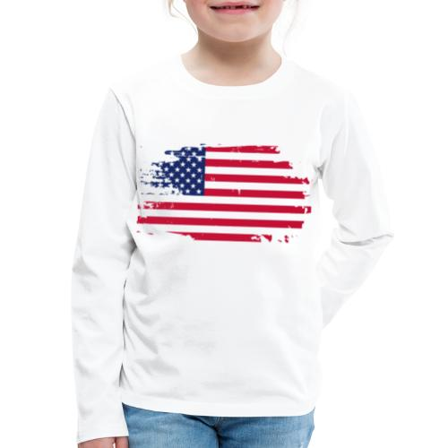 usa america american flag - Kids' Premium Long Sleeve T-Shirt