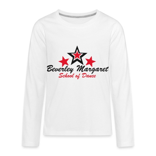 on white teen adult - Kids' Premium Long Sleeve T-Shirt