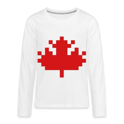 Pixel Maple Leaf - Kids' Premium Long Sleeve T-Shirt