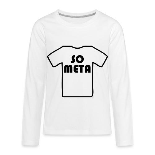 Meta Shirt on a Shirt - Kids' Premium Long Sleeve T-Shirt