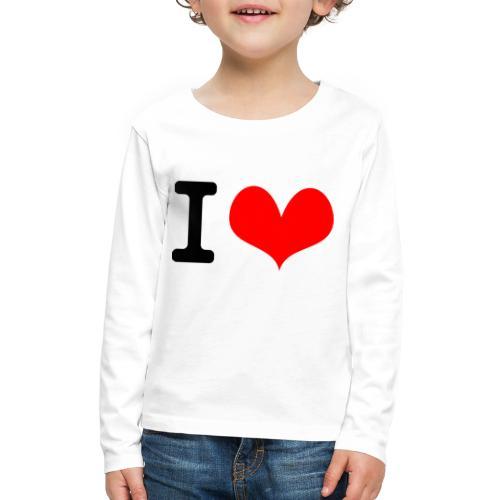 I Love what - Kids' Premium Long Sleeve T-Shirt