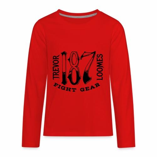 Trevor Loomes 187 Fight Gear Street Wear Logo - Kids' Premium Long Sleeve T-Shirt