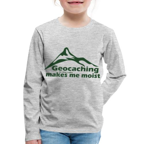 Geocaching in the Rain - Kids' Premium Long Sleeve T-Shirt