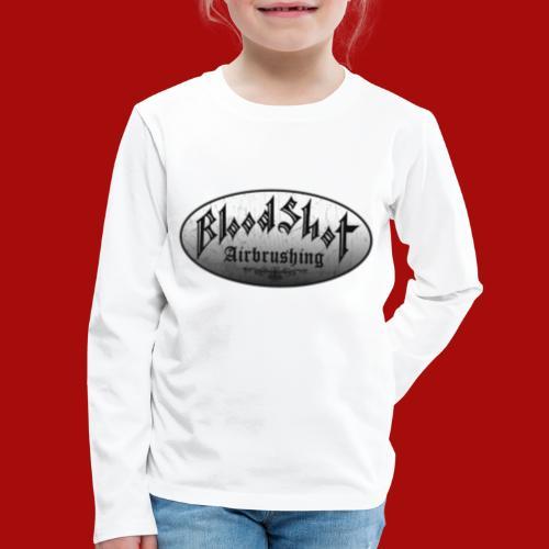 BloodShot Logo Black/White - Kids' Premium Long Sleeve T-Shirt