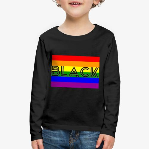 Black LGBTQ - Kids' Premium Long Sleeve T-Shirt
