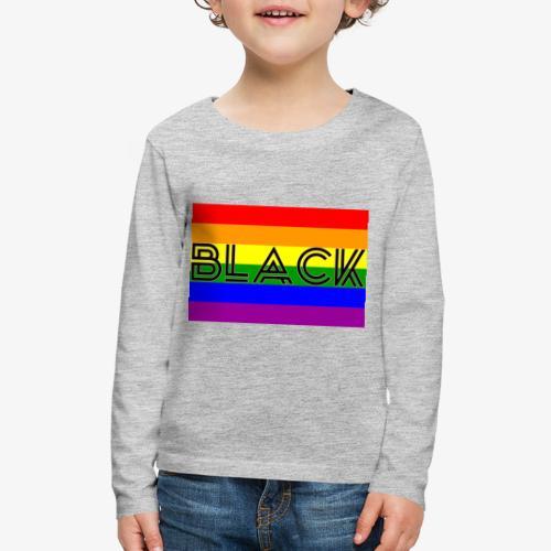 Black LGBTQ - Kids' Premium Long Sleeve T-Shirt
