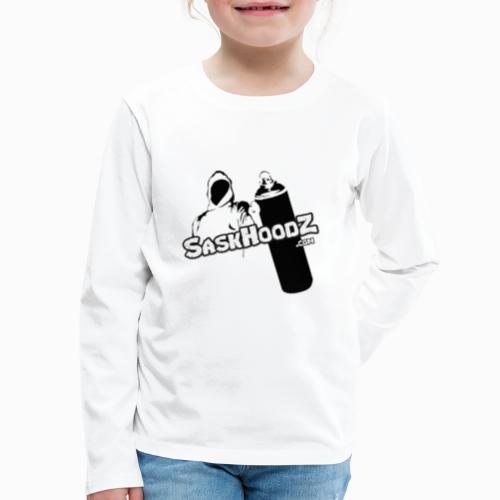 saskhoodz logo black - Kids' Premium Long Sleeve T-Shirt