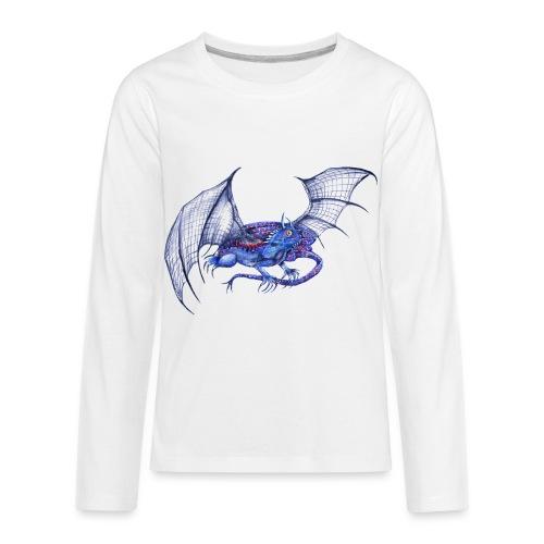 Long tail blue dragon - Kids' Premium Long Sleeve T-Shirt