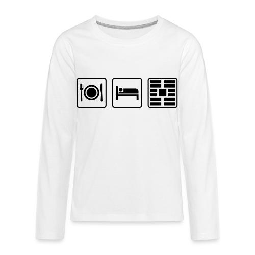 Eat Sleep Urb big fork - Kids' Premium Long Sleeve T-Shirt