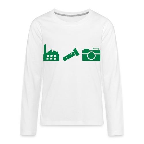 DCUE_Icons_Small - Kids' Premium Long Sleeve T-Shirt