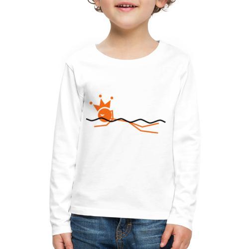 Winky Swimming King - Kids' Premium Long Sleeve T-Shirt