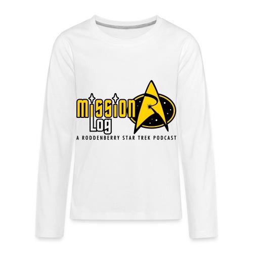 Logo Wide 2 Color Black Text - Kids' Premium Long Sleeve T-Shirt