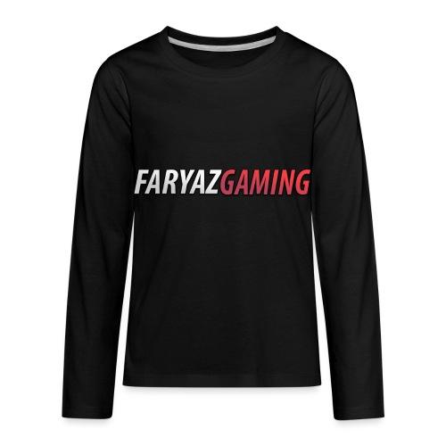 FaryazGaming Text - Kids' Premium Long Sleeve T-Shirt
