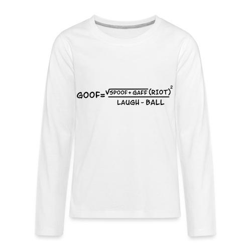 gaff text transparent - Kids' Premium Long Sleeve T-Shirt