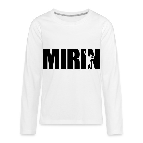 Zyzz Mirin Pose text - Kids' Premium Long Sleeve T-Shirt