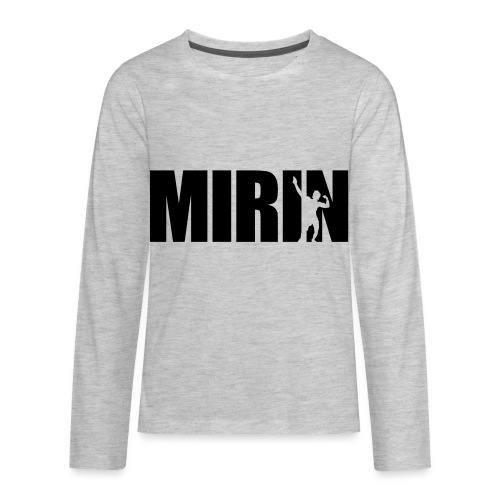 Zyzz Mirin Pose text - Kids' Premium Long Sleeve T-Shirt