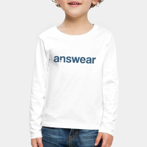 answear answer question - Kids' Premium Long Sleeve T-Shirt