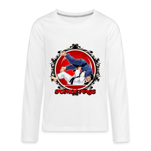 Judo Throw Tomoe Nage - Kids' Premium Long Sleeve T-Shirt