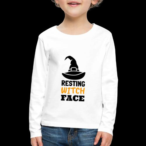 Resting Witch Face | Funny Halloween - Kids' Premium Long Sleeve T-Shirt