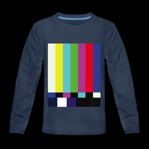 This is a TV Test | Retro Television Broadcast - Kids' Premium Long Sleeve T-Shirt