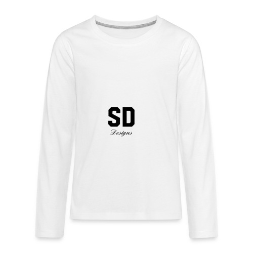 SD Designs blue, white, red/black merch - Kids' Premium Long Sleeve T-Shirt