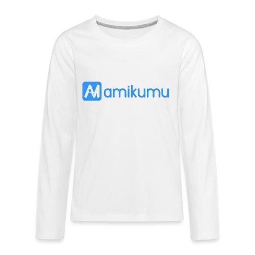 Amikumu Logo Blue - Kids' Premium Long Sleeve T-Shirt