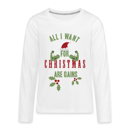All i want for christmas - Kids' Premium Long Sleeve T-Shirt