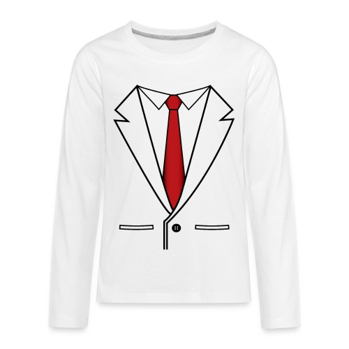 Suit and Red Tie - Kids' Premium Long Sleeve T-Shirt