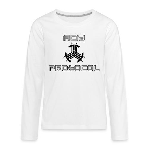 ACID PROTOCOL OFFICIAL LOGO BLACK - Kids' Premium Long Sleeve T-Shirt