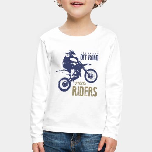 motorcycle off road rider biker - Kids' Premium Long Sleeve T-Shirt