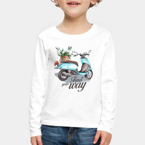 find your way in life - Kids' Premium Long Sleeve T-Shirt