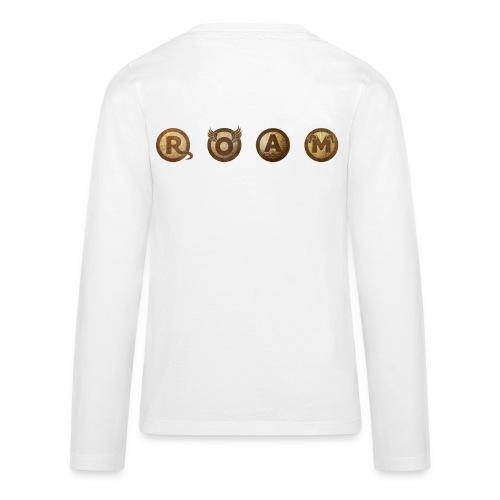 ROAM letters sepia - Kids' Premium Long Sleeve T-Shirt