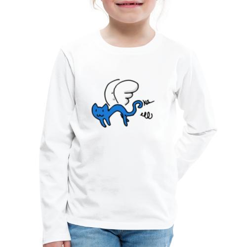 Flying Kitty - Kids' Premium Long Sleeve T-Shirt