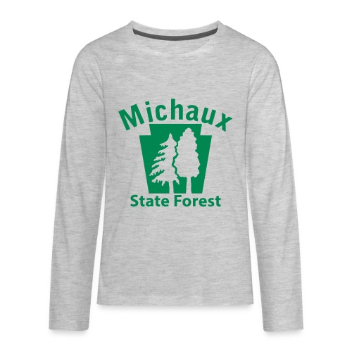 Michaux State Forest Keystone (w/trees) - Kids' Premium Long Sleeve T-Shirt