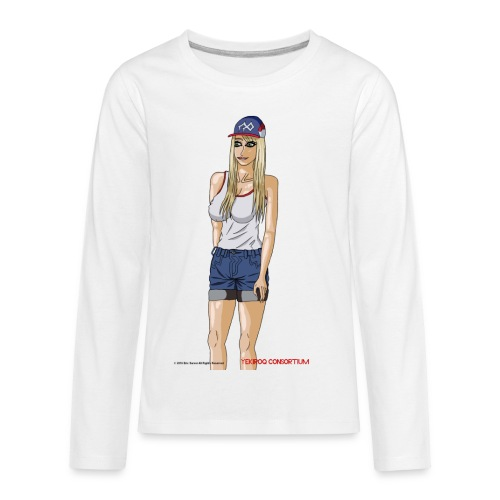Gina Character Design - Kids' Premium Long Sleeve T-Shirt