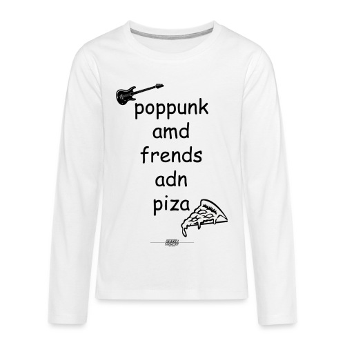 Pop Punk and Friends and Pizza - Kids' Premium Long Sleeve T-Shirt