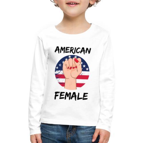 American Fimale apparel - Kids' Premium Long Sleeve T-Shirt