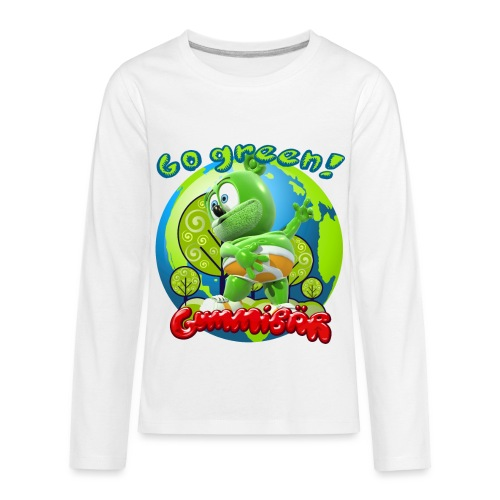 Gummibär Go Green Earth Day Earth - Kids' Premium Long Sleeve T-Shirt