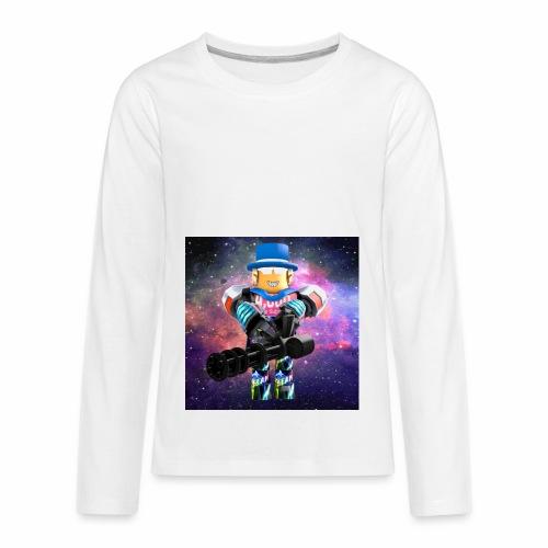 sean roblox character with minigun - Kids' Premium Long Sleeve T-Shirt
