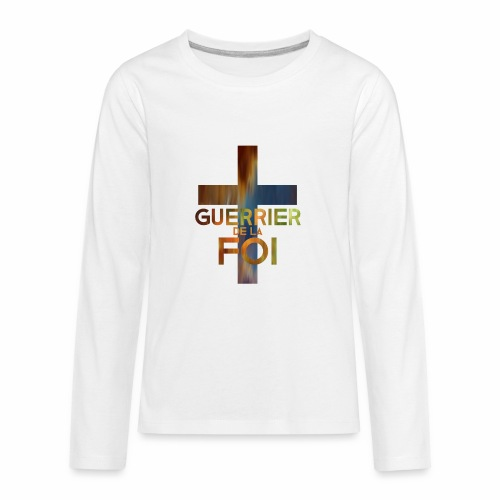 WARRIOR OF FAITH - Kids' Premium Long Sleeve T-Shirt